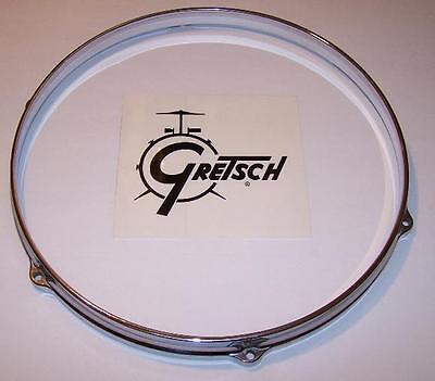 """5 Lug Satin Black Gretsch Die Cast Drum Hoop 12/"""" Inch New Old Stock  Tom"""