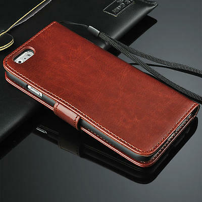 Luxury Genuine Real Leather Flip Stand Wallet Case Cover For Apple iPhone 4 4S