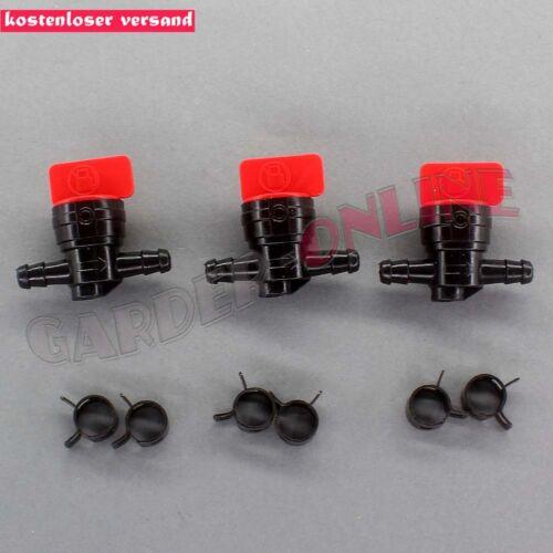 3x Benzinhahn Kraftstoffhahn Absperrhahn für Briggs /& Stratton Rasenmäher 8,2 mm