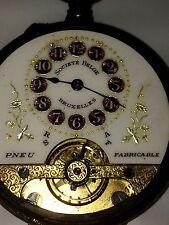 Montre Gousset HEBDOMAS 8 Jours Pocket Watch Swiss Made Taschenuhr Reloj Suisse