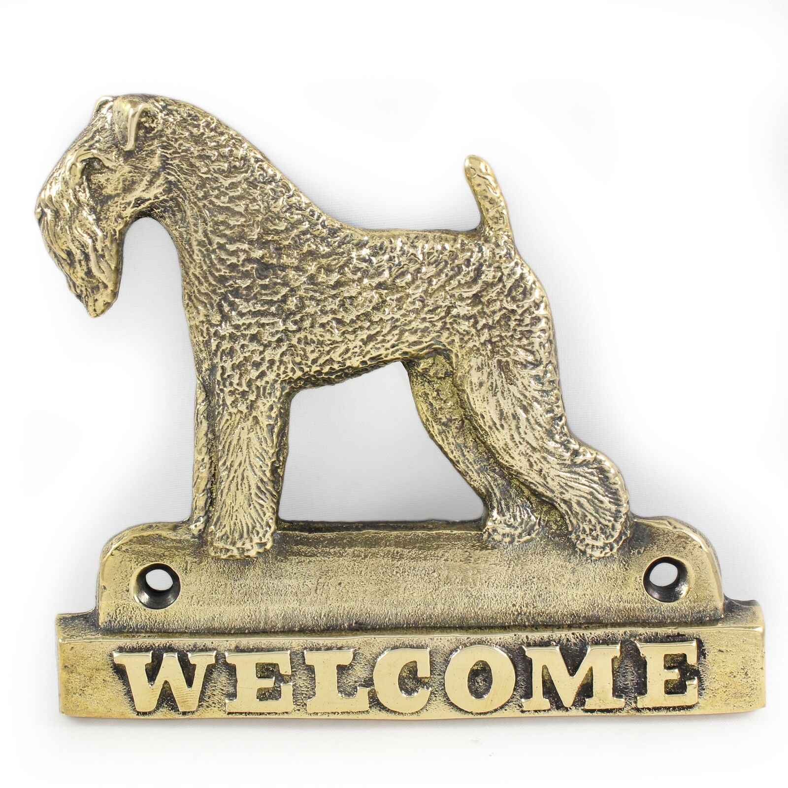 Kerry blu Terrier Terrier Terrier - brass tablet with image of a dog, Art Dog 1244f9