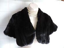 Vintage 1920's Black FUR BOLERO Wrap Shrug Flapper Gatsby Charleston Coat Jacket