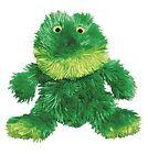 KONG Dr Noys Material Sitting Frog Dog Squeak Toy No Messy Filling Medium (nf2)