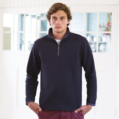 Front Row Mens Soft Touch 1/4 Zip Pullover Sweatshirt Warm Jumper Sweat Top New