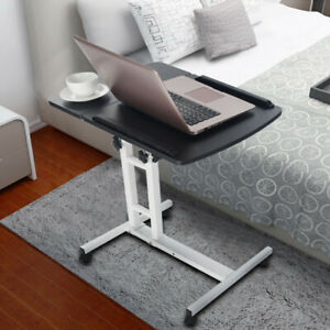Details About Folding Writing Table Rolling Laptop Notebook Computer Desk With Wheels Black