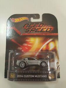 Hot Wheels Need For Speed 2014 Custom Mustang Retro Entertainment Ebay