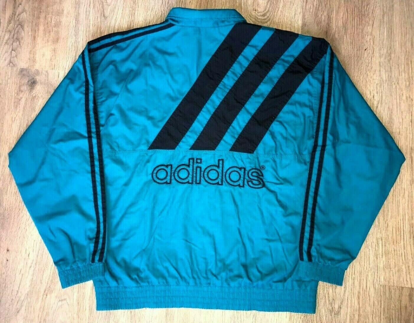 Adidas vintage 90s as equipment Grün Farbeway tracksuit track jacket Größe S