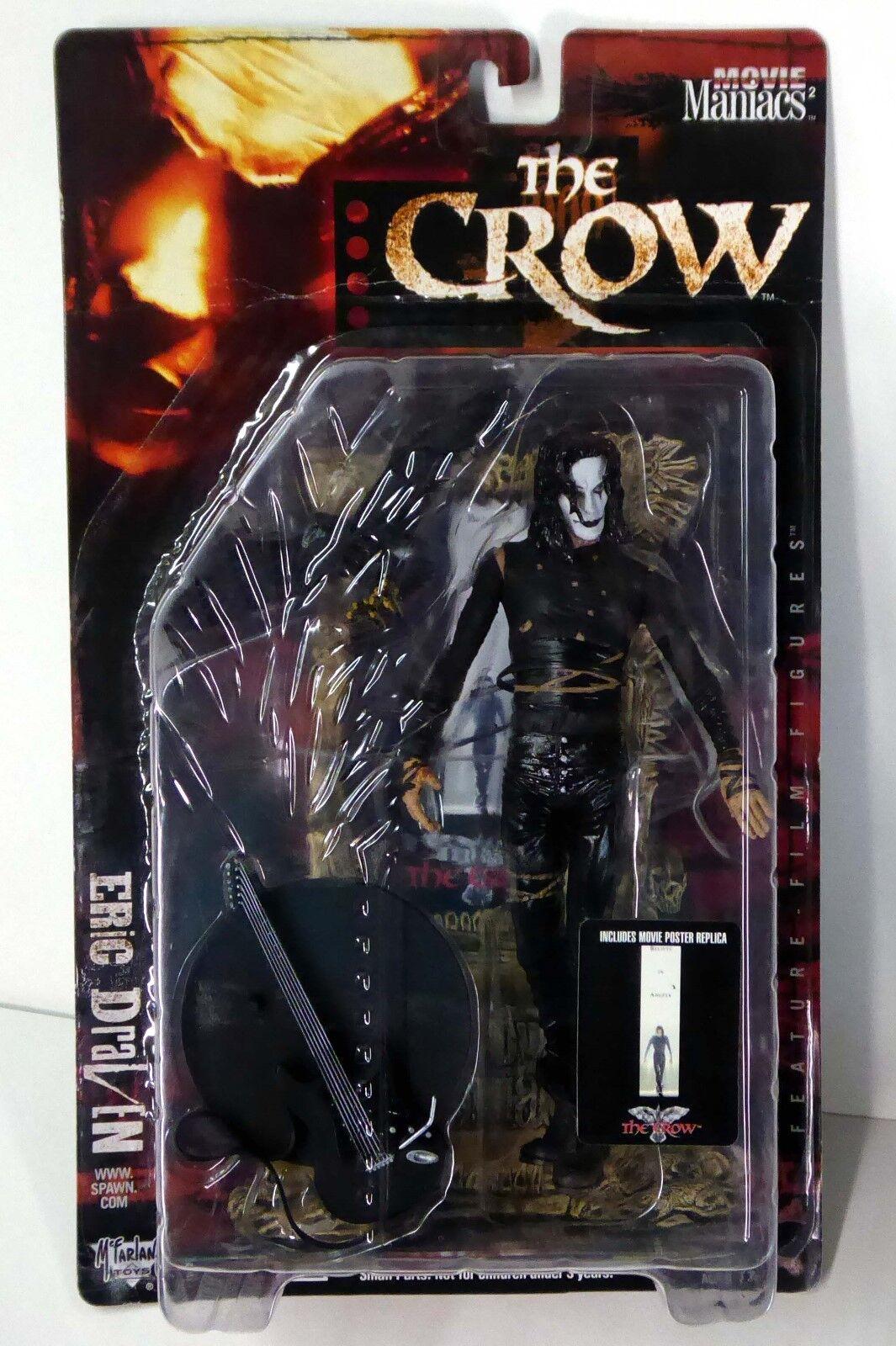 McFarlane Toys Eric Draven Crow Movie Maniacs Series 2 Figure VF New 1999