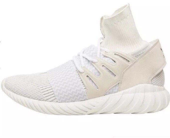 Adidas Originals Mens Tubular Doom Primeknit Trainers Weiß Light grau Uk9.5