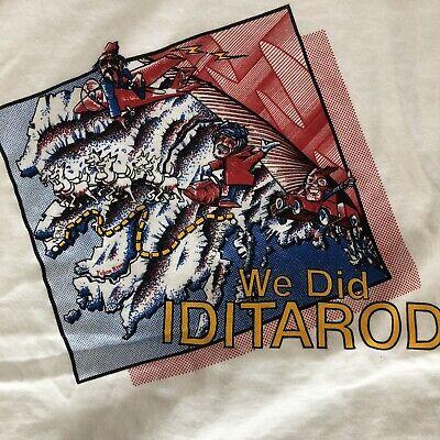 VTG 1990 We Did Iditarod T Shirt Alaska Sled Dog XL Single Stitch NEW OLD STOCK