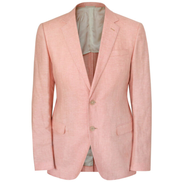 BELVEST $2,700 cashmere linen summer sport jacket salmon pink blazer 40-US/50 8R