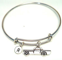 Personalized Cadillac Bangle Bracelet - Choose An Initial, Cadillac Jewelry