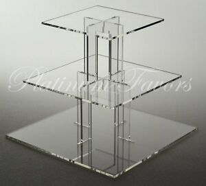 square wedding cake 3 tier stand 3 tier square acrylic cupcake stand clear wedding cake 20380