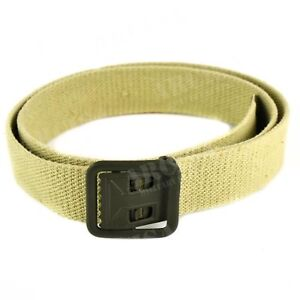 Genuine-French-army-military-canvas-belt-webbing-army-trousers-pants-sand-khaki
