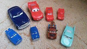8-Disney-Pixar-Cars-Bundle-Lightning-McQueen-Matar-Etc-Plastic-Cars