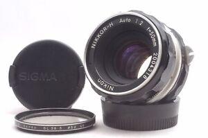Ship-in-24-Hours-Nikon-Nippon-Kogaku-Nikkor-H-Auto-50mm-f2-Non-AI-MF-Lens