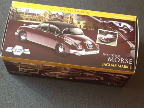 Jaguar Mark 2 MK II Inspector Morse Sergeant Lewis Model Icons 701001 new 1:18
