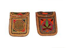 Genuine Leather Handmade Ethnic Embroidered design Shoulder Bag Vintage Satchel