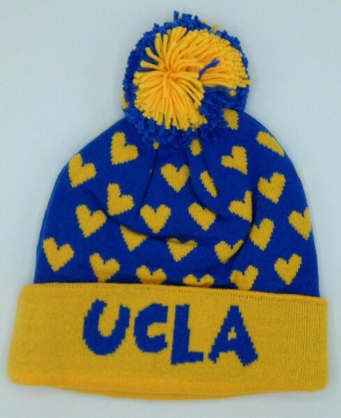 NCAA UCLA Bruins Adidas Cuffed Pom Winter Knit Hat Cap Beanie NEW! f9036a857a1a