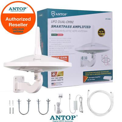 ANTOP 720°Dual-Omni-Directional Outdoor HDTV Antenna Enhanced VHF//UHF Reception