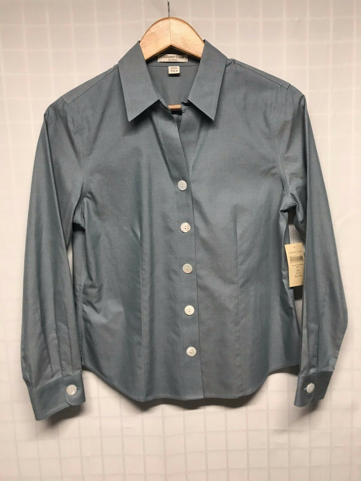Coldwater Creek   Woherren Dress Shirt   Button Down Long Sleeve   PS 68