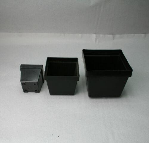 100 Stück 10x10x8,5 cm Kunststoff-Vierkanttöpfe Blumentöpfe SIMA Blumentopf