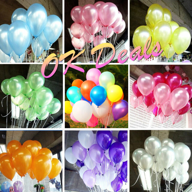 9 Color 100x 10 inch Pearl Latex Balloon Celebration Party Wedding Birthday Deco