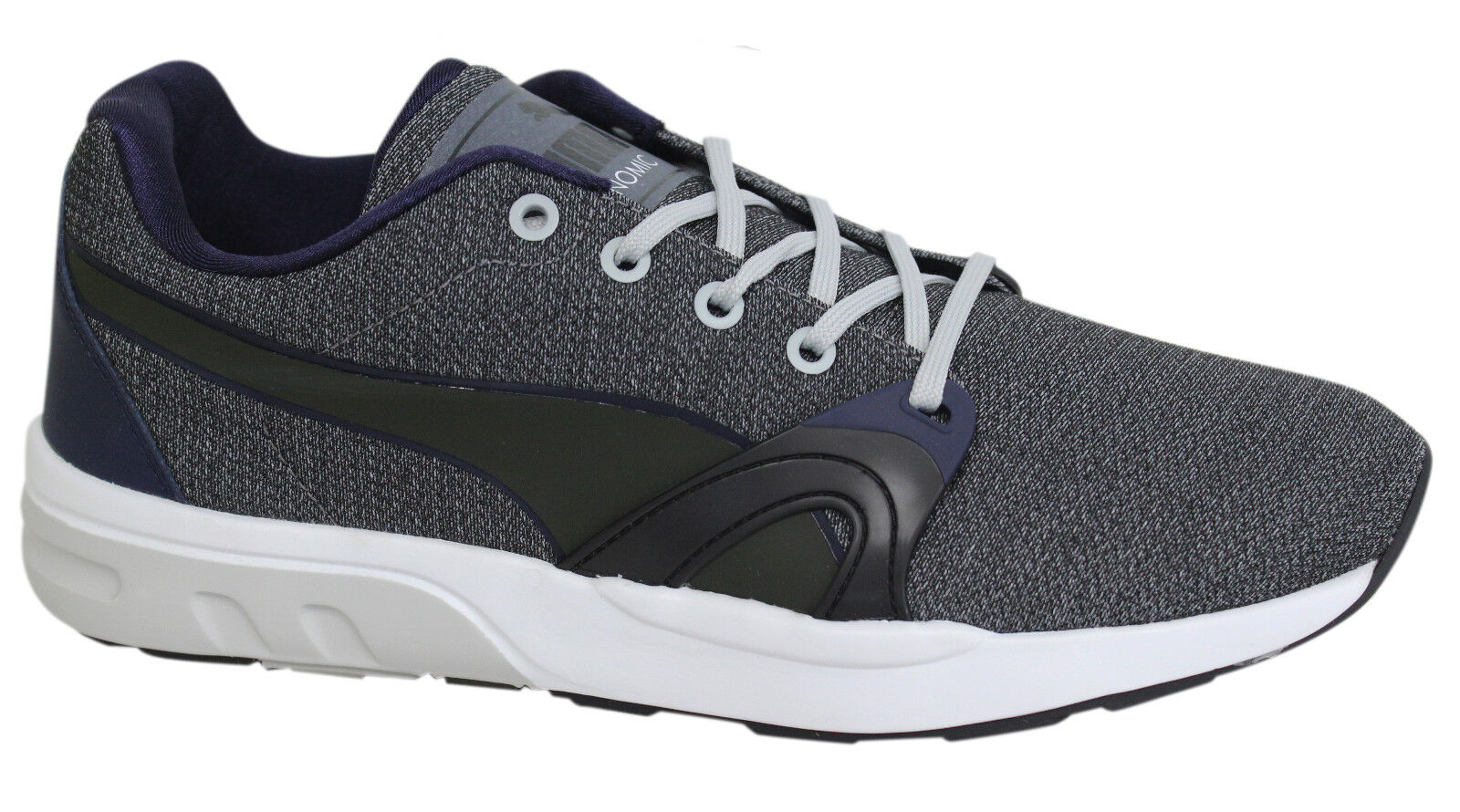 Puma Trinomic XT S Mens Grey Navy Lace Up Trainers Running Shoes 359728 03  D104