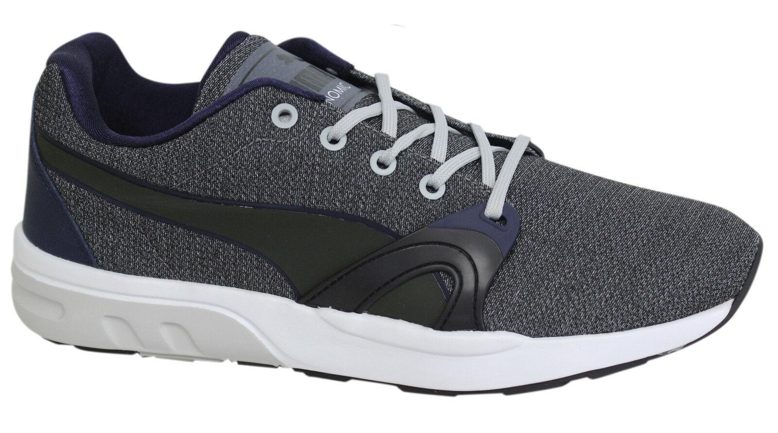 Puma Trinomic XT S Homme Gris Bleu Marine à Lacets Baskets Chaussures De Course 359728 03 D104