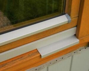Wetterschenkel Z Profil für Holzfenster Regenschiene Holz Aluminium