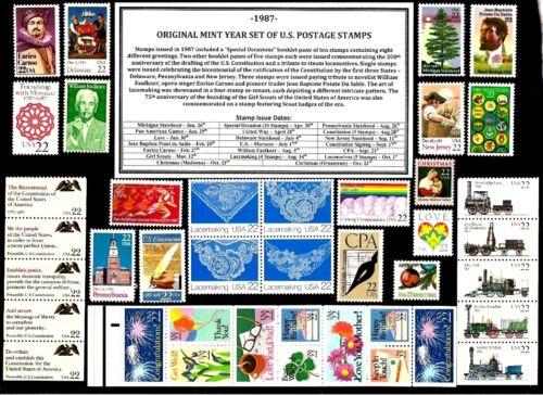 1987 COMMEMORATIVE YEAR SET OF MINT -MNH- VINTAGE U.S. POSTAGE STAMPS