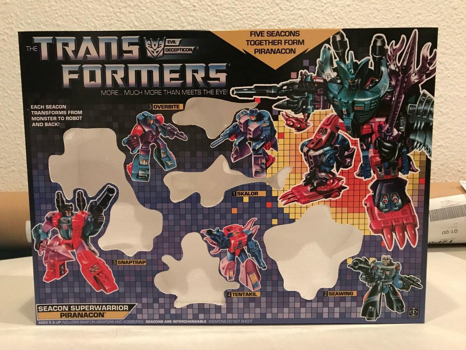 Transformers G1 Piranacon box and Styrofoam Custom