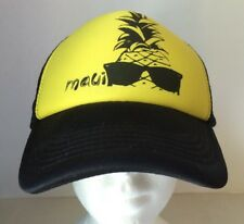 5dddb45568d item 3 Maui Pineapple SNAPBACK TRUCKER HAT CAP Black Yellow New Hawaii Aloha  Surf -Maui Pineapple SNAPBACK TRUCKER HAT CAP Black Yellow New Hawaii Aloha  ...