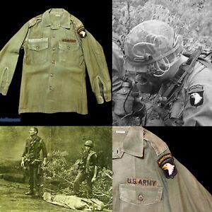 Rare-1969-US-Army-Vietnam-Airborne-Named-034-Fields-034-Salty-Combat-Uniform-Relic