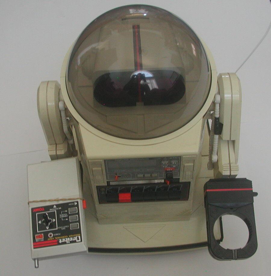 Tomy Omnibot no 5402 Vintage Programable Robot buenas condiciones R16788