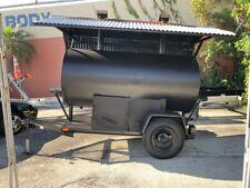 Bbqsmoker 500 Gallon Tank On Trailerpull Out Racks Wood Or Gasfresh Paint