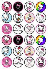 Eßbar Tortenaufleger Hello Kitty DVD Muffin NEU 20 Stück Oblate backen Deko