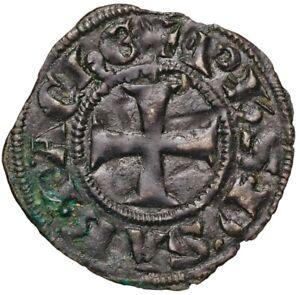 1301-1306-Crusades-Achaea-Philip-of-Savoy-Silver-Denier-Coin-gVF