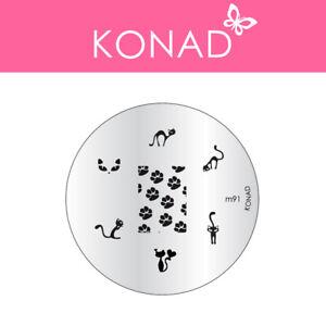Original KONAD ® Stamping Nailart Design Schablone Image Plate - M91