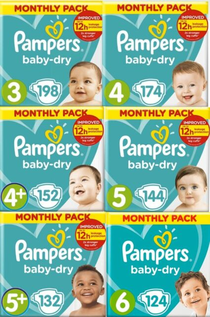 Easy-On with Air Pampers Baby-Dry Nappy Pants Size 7 Monthly Saving Pack 112