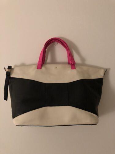 Spade Ivory Pink Bag Kate Weekender Leather Hot Black And wv0mN8n
