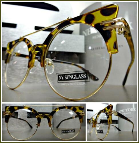CLASSIC VINTAGE RETRO Style Clear Lens  EYE GLASSES Tortoise Gold Fashion Frame