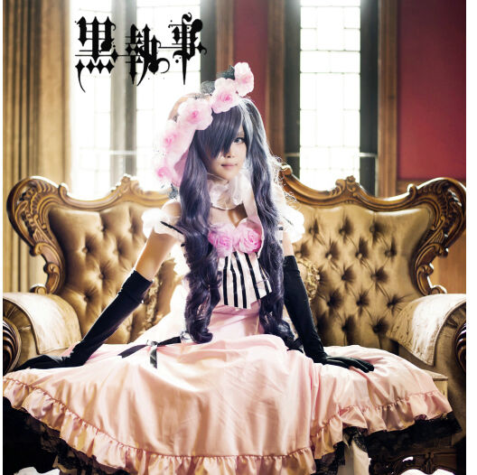 Japan Anime Black Butler Kuroshitsuji Ciel Cosplay Costume Dress Lolita Custome
