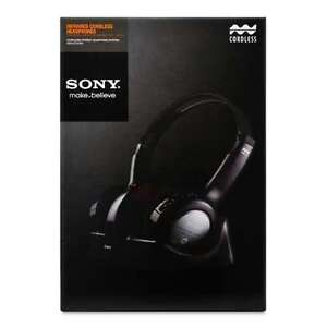 sony mdr if240rk wireless rechargeable headphones system rh ebay com Sony MDR XB700 sony mdr-if240rk wireless headphone system manual