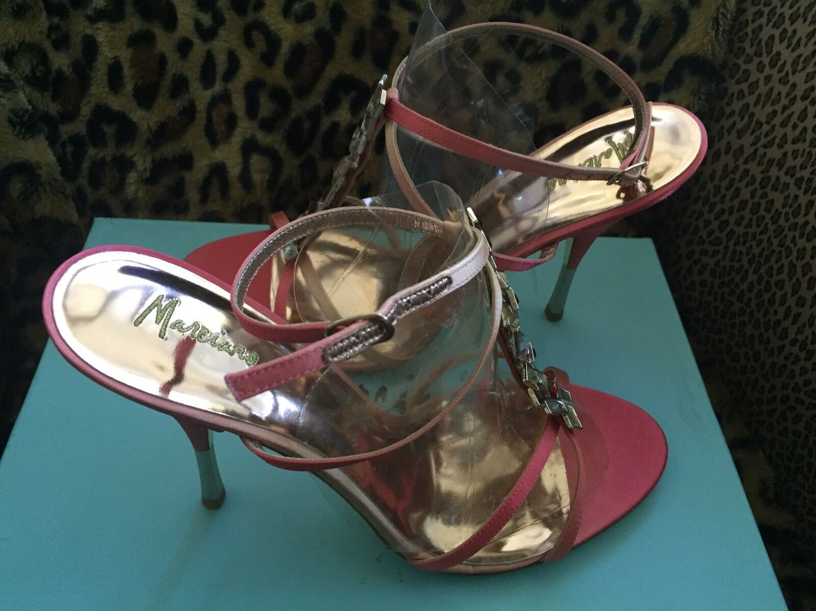 Nwt Marciano Pmtrish Satin  Jewel shoes 10 Pink
