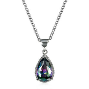 Mystic-Rainbow-Topaz-Solid-925-Sterling-Silver-Pendant-Jewelry-SP-6924