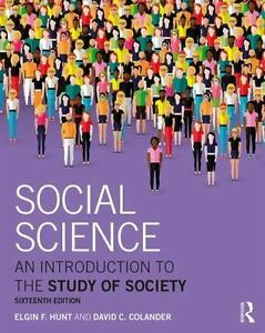 (Electronic Book) Social Science : An Introduction to the Study of Society 16e 2