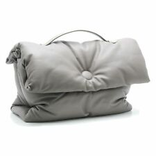 CELINE Cartable Pillow Large Handbag Lambskin Gray /57290