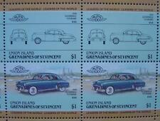1949 OLDSMOBILE FUTURAMIC Car 50-Stamp Sheet / Auto 100 Leaders of the World