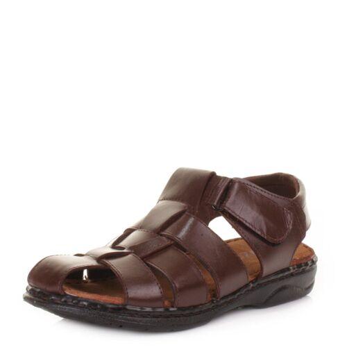 New Mens Leather Summer Sandals Walking Hiking Trekking Fisherman Sandals Shoes
